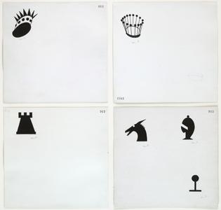 Marcel Duchamp, Designs for Chessmen, c. 1920
