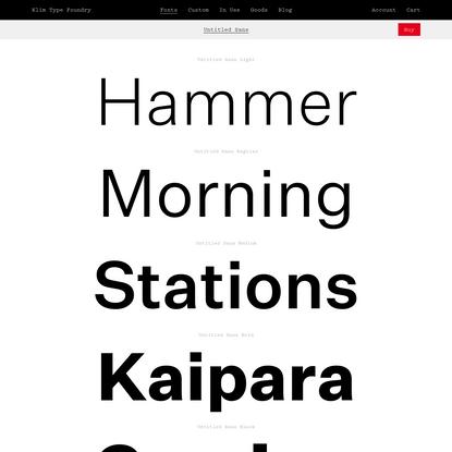 Klim Type Foundry · Untitled Sans fonts