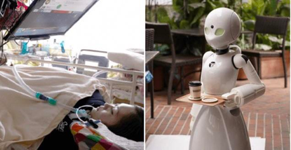 A cafe in Japan is hiring paralyzed people to to control robot servers in order to still make an income.
