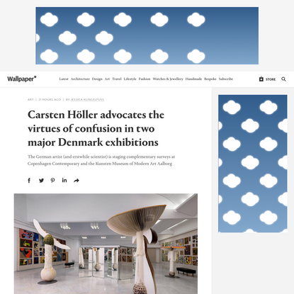 Carsten Höller advocates the virtues of confusion in two major Denmark exhibitions