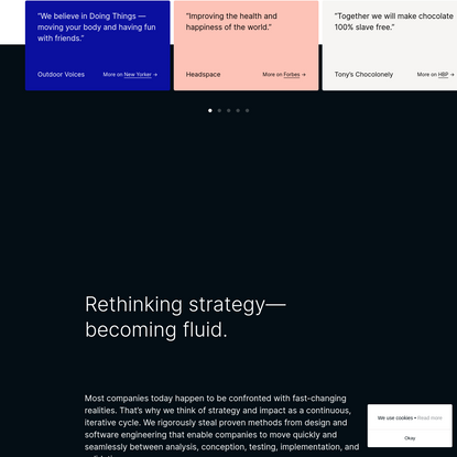 WAY - A strategy firm driven by curiosity and digital by default.