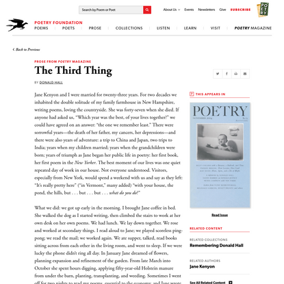 The Third Thing by Donald Hall