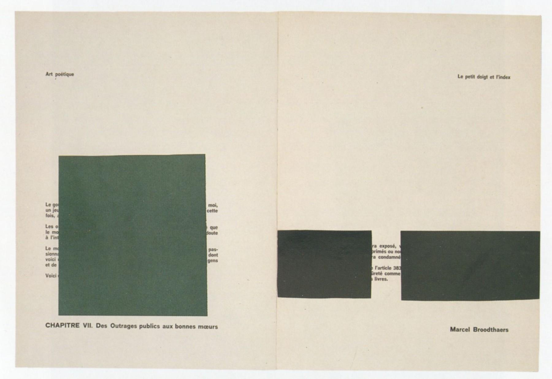 Marcel Broodthaers. Pense-Bête (Memory aid). 1964