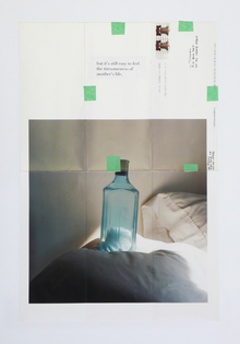 Moyra Davey, Trust Me, 16 C-prints with tape, postage, ink