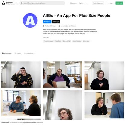 AllGo - An App For Plus Size People (@canweallgo)   Unsplash Photo Community