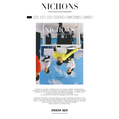 Bilingual printed magazine about the Internet ~ Revue semestrielle imprimée