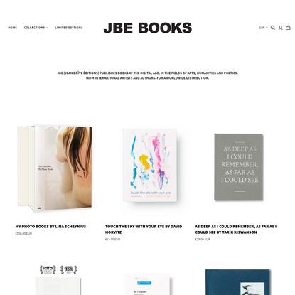 Jean Boîte Éditions 📚Est. Paris, 2011. Books for the digital age.