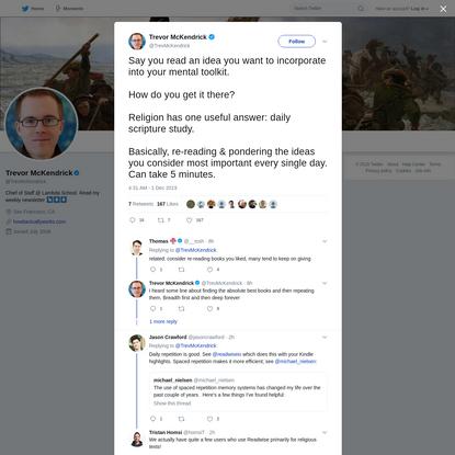 Trevor McKendrick on Twitter