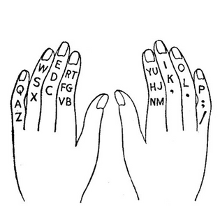 how to type by touch