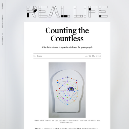 Counting the Countless - Real Life