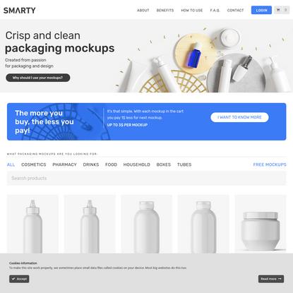 Smarty Mockups - Premium Packaging Mockups