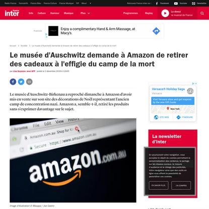 Le musée d'Auschwitz demande à Amazon de retirer des cadeaux à l'effigie du camp de la mort