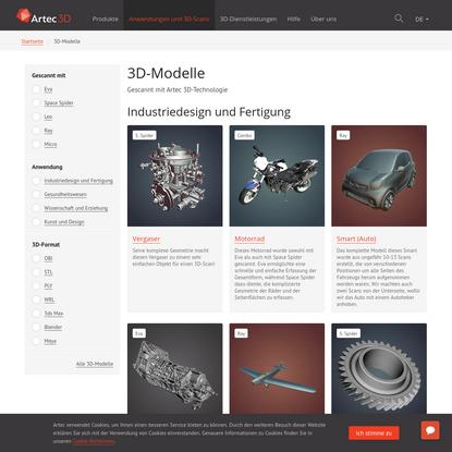 3D-Scan Free Download: OBJ, STL 3D Modelle