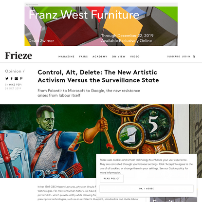 Control, Alt, Delete: The New Artistic Activism Versus the Surveillance State