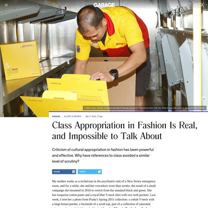 Class Appropriation in Fashion Is Real, and Impossible to Talk About