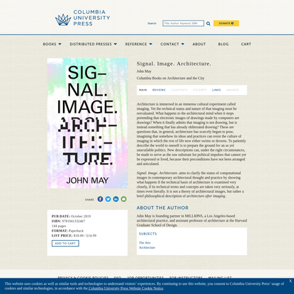 Signal. Image. Architecture.   Columbia University Press