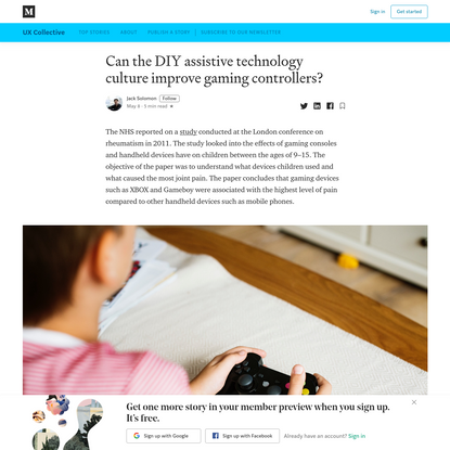 Can the DIY assistive technology culture improve gaming controllers?
