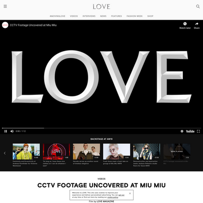 CCTV footage uncovered at Miu Miu | LOVE
