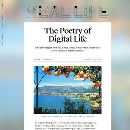 The Poetry of Digital Life - Real Life