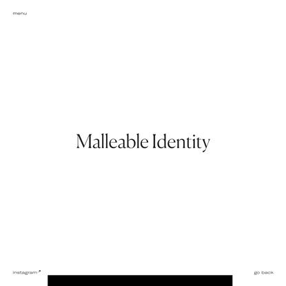 Malleable Identity - Ada Sokół
