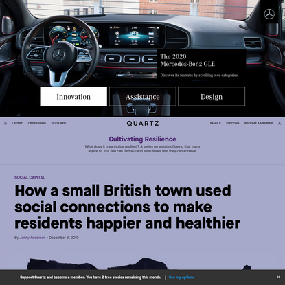 How a small British town used social connections to make residents happier and healthier