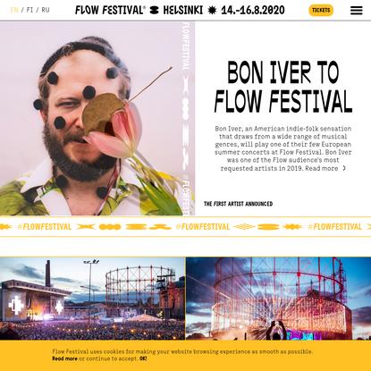 Flow Festival 14.-16.8.-2020