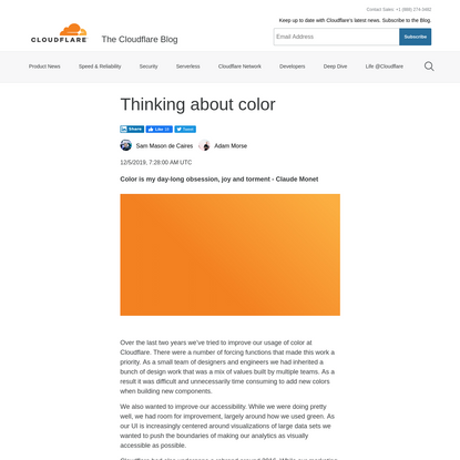Thinking about color