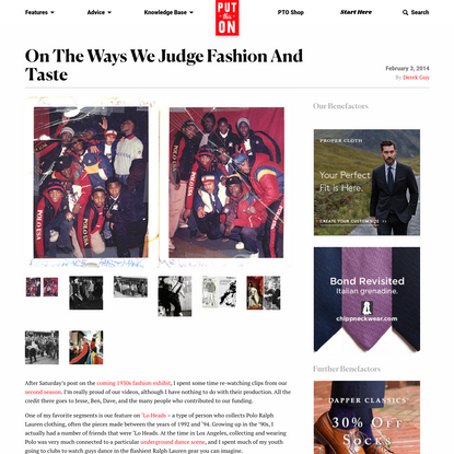 On The Ways We Judge Fashion and Taste – Put This On