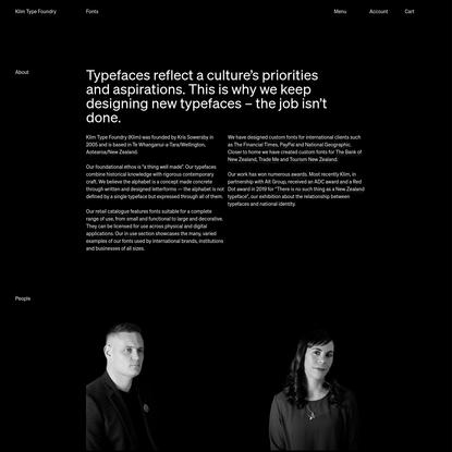 Klim Type Foundry · About