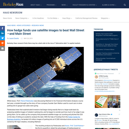 How hedge funds use satellite images to beat Wall Street-and Main Street   Haas News   Berkeley Haas