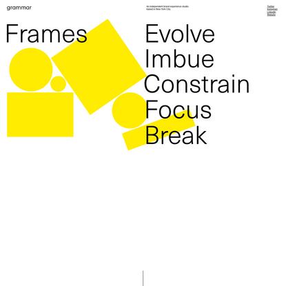 The Grammar of Frames