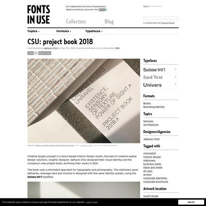 CSU: project book 2018