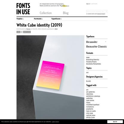 White Cube identity (2019)
