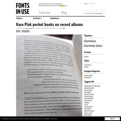 Kara Plak pocket books on record albums