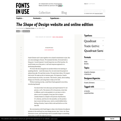 The Shape of Design website and online edition