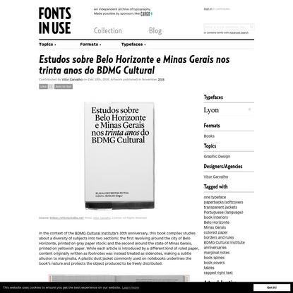 Estudos sobre Belo Horizonte e Minas Gerais nos trinta anos do BDMG Cultural