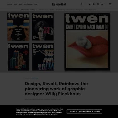 Design, Revolt, Rainbow: the pioneering work of graphic designer Willy Fleckhaus