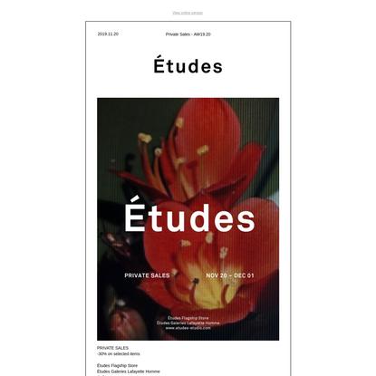 Études newsletter