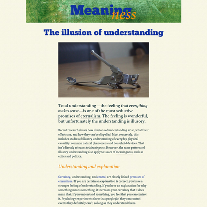 The illusion of understanding