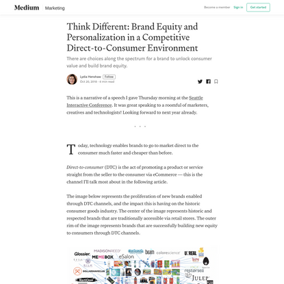 Think Different: Brand Equity and Personalization in a Competitive Direct-to-Consumer Environment