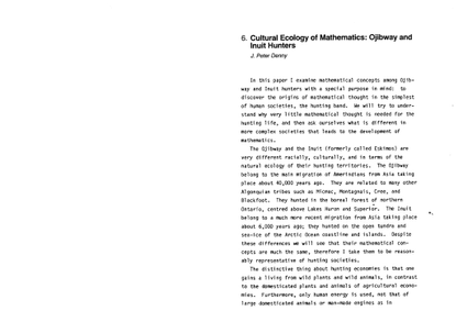Cultural Ecology of Mathematics