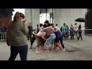 Simone Forti Huddle performance on the High Line