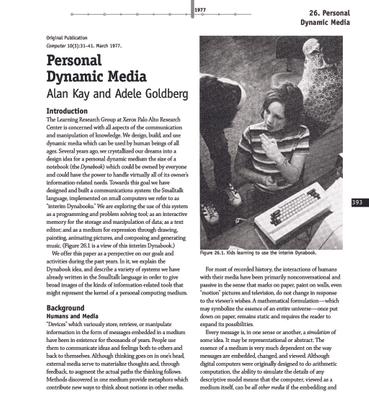 Alan Kay - Personal Dynamic Media (1977)