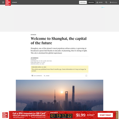 Opinion: Welcome to Shanghai, the capital of the future