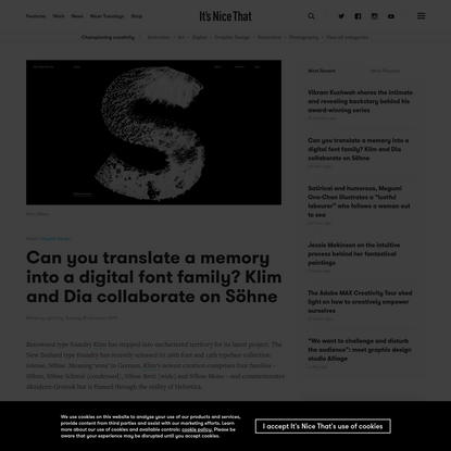 Can you translate a memory into a digital font family? Klim and Dia collaborate on Söhne