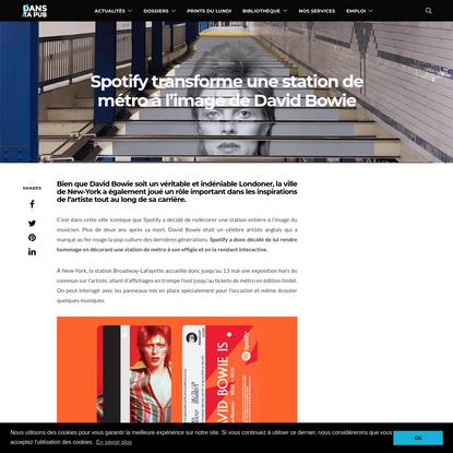 Spotify transforme une station de métro à l'image de David Bowie