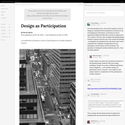 Design as Participation