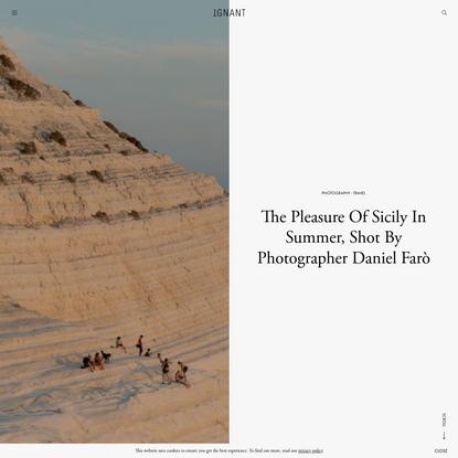 The Pleasure Of Sicily In Summer, Shot By Photographer Daniel Farò - IGNANT