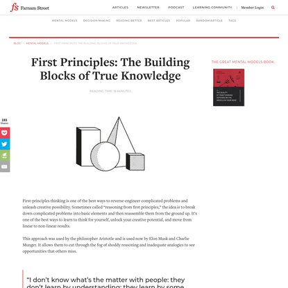 First Principles: The Building Blocks of True Knowledge