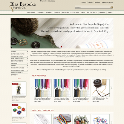 Bias Bespoke Supply Co   Sewing supplies for Tailors, Dressmakers, and Lingerie & Corset Makers
